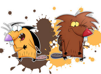 Beaver Brothers Color Swap by DoraeArtDreams-Aspy