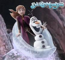 Anna and Olaf Ride Splash Mountain