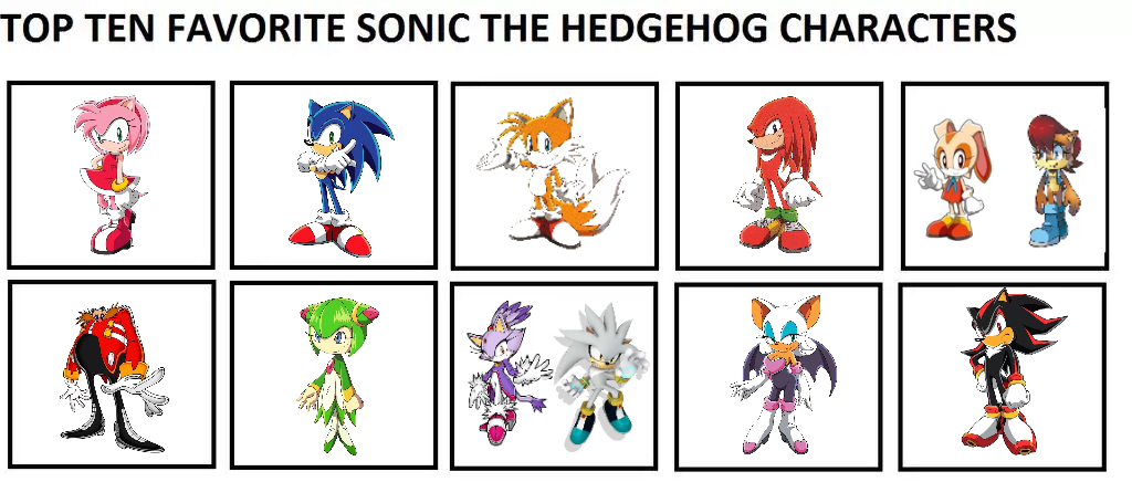 My Top 10 Favorite Sonic The Hedgehog Characters By Doraeartdreams Aspy On Deviantart