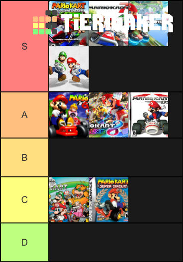 Mario Kart Games Tier List By Doraeartdreams Aspy On Deviantart
