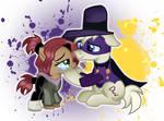 Pony Darkwing and Pony Gosalyn by DoraeArtDreams-Aspy