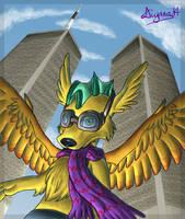 Flight over memories by CartoonSilverFox