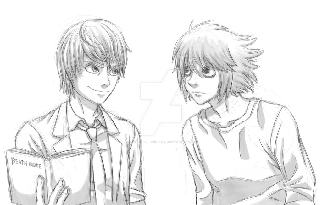 Death Note Sketch by CartoonSilverFox