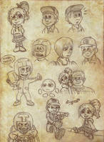 Wreck-It Ralph Sketches *possible spoilers* by CartoonSilverFox