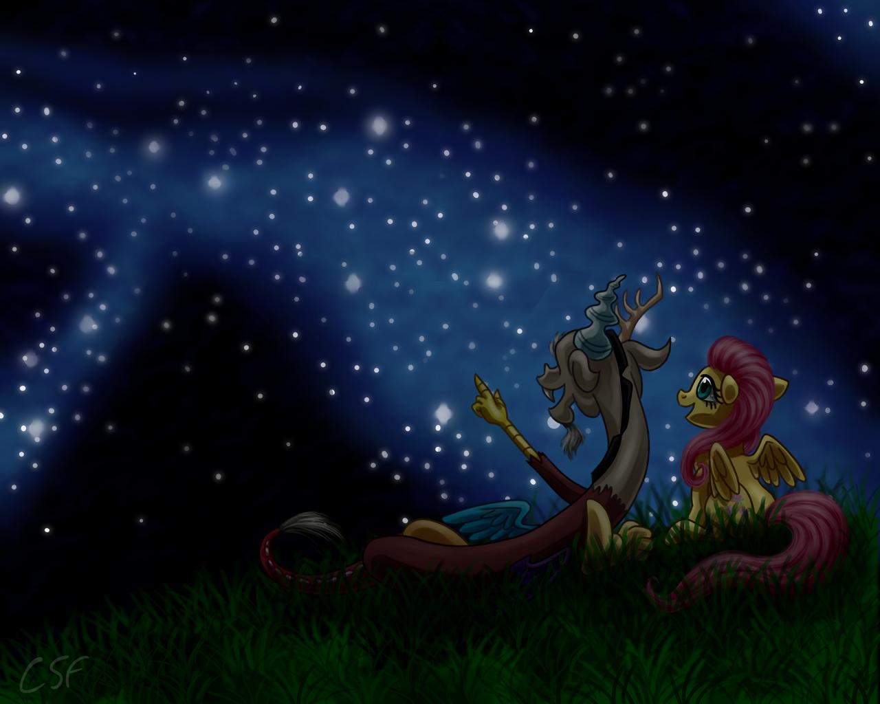 Stargazing by CartoonSilverFox