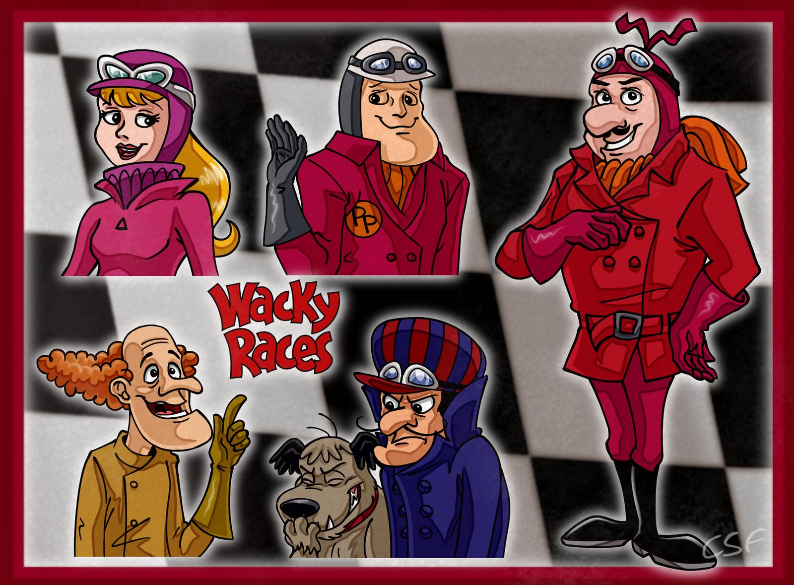 Those wacky racers by cartoonsilverfox on deviantart for Wacky wallpaper