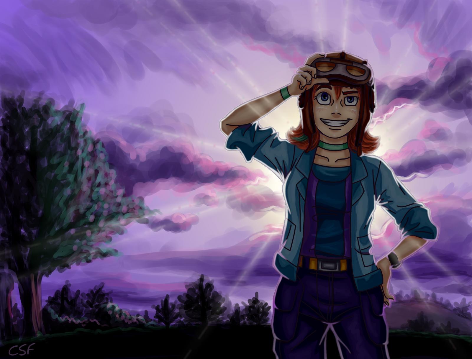 Lots of Purple by CartoonSilverFox