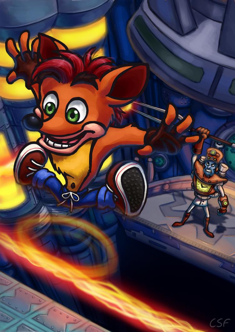 Crash VS N Tropy by CartoonSilverFox