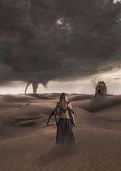 Alone in the desert by oliviou-krakus