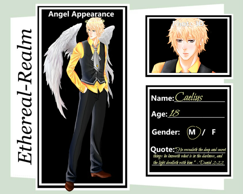 Caelius Marques Ethereal-Realm Angel Application by xxxstarrynightzxxx