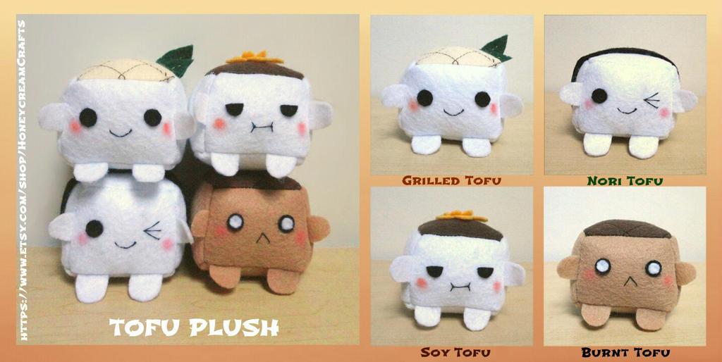 ON SALE NOW Tofu Plush (New Version) by xxxstarrynightzxxx