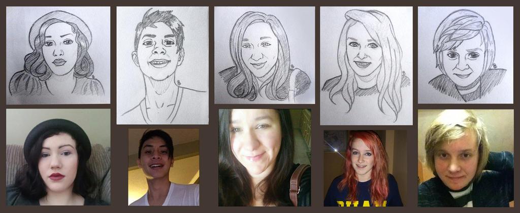 Portrait Sketch Examples by xxxstarrynightzxxx