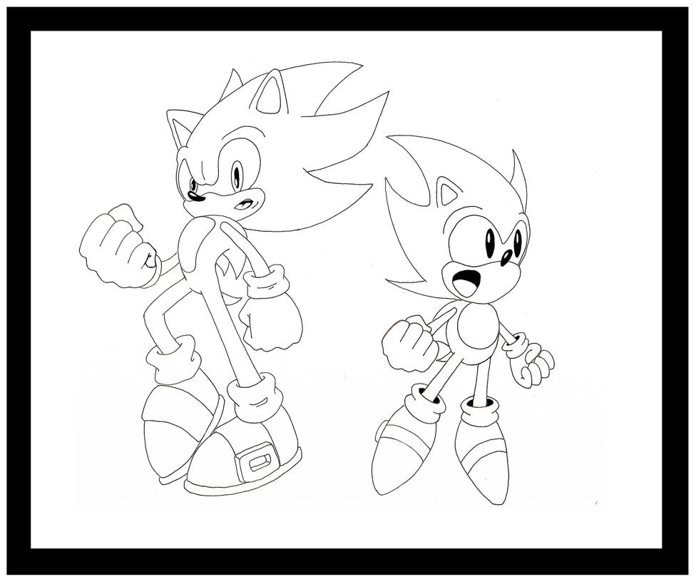 super sonic generations by funkyjeremi - Classic Super Sonic Coloring Pages
