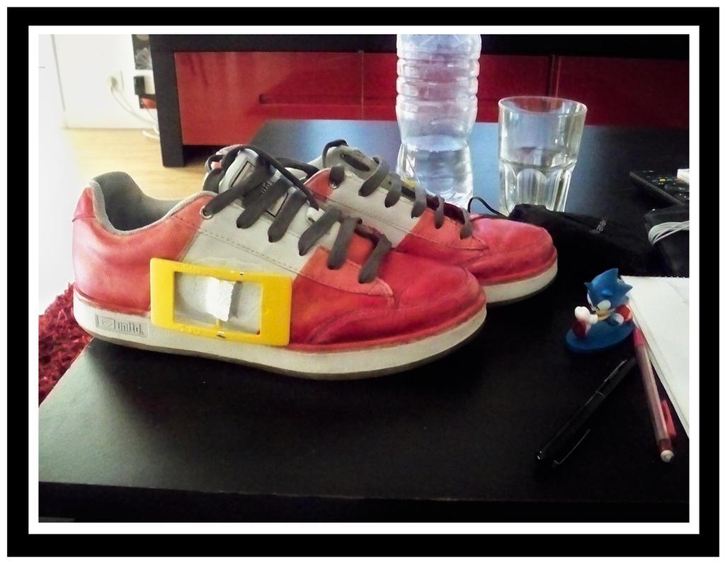 WIP: Custom Sonic Shoes by funkyjeremi