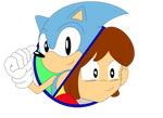 Sonic and Alex Kidd Crossover Cover Art