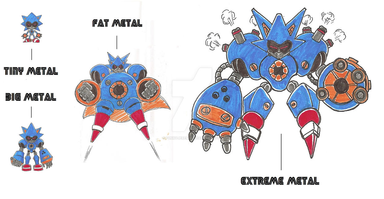 Tiny Big Fat Extreme Metal Sonic Designs By