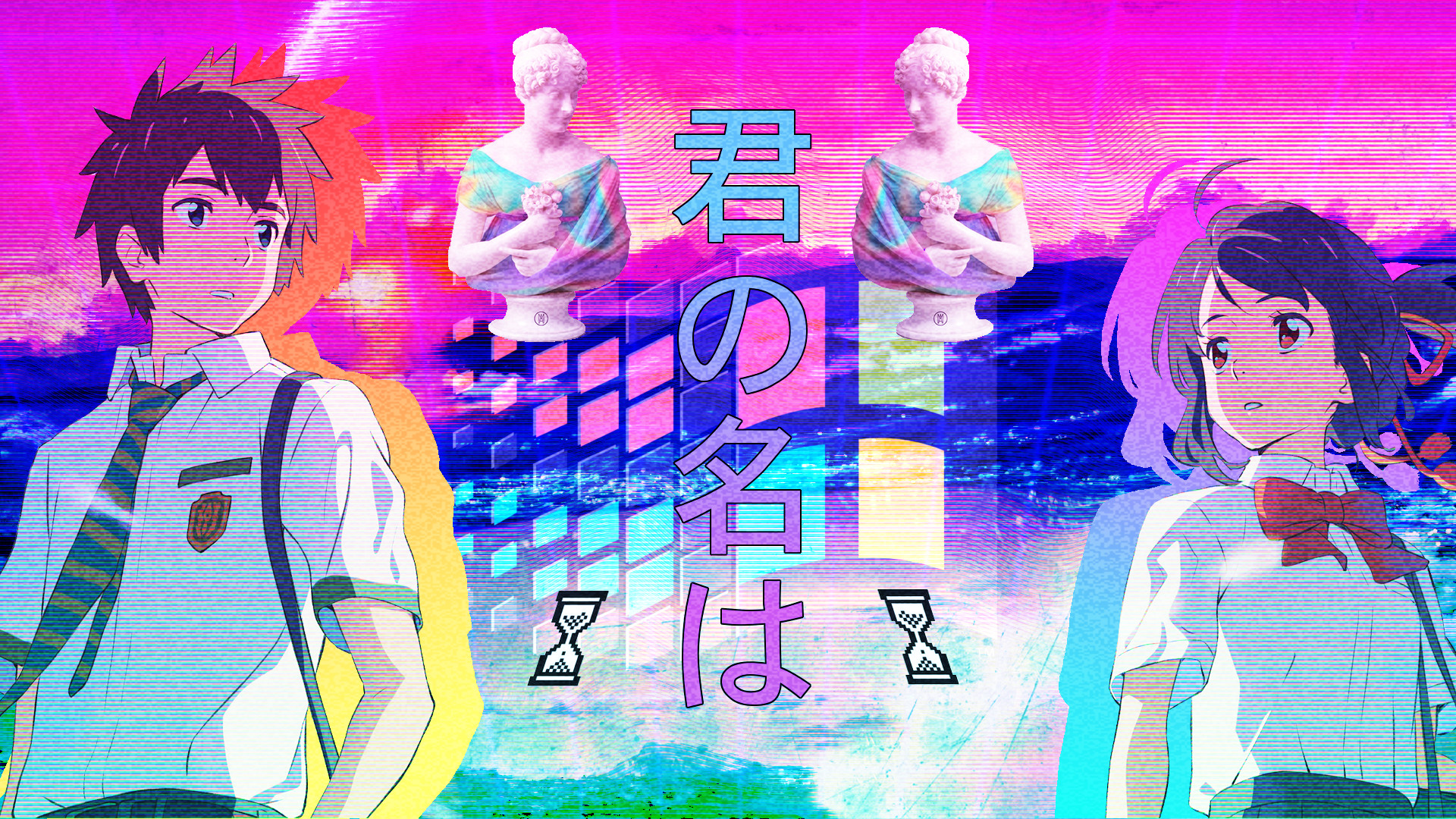 My Anime Vaporwave Wallpaper #06 By Iamthebest052 On