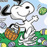My Snoopy with Easter Eggs Color By Number