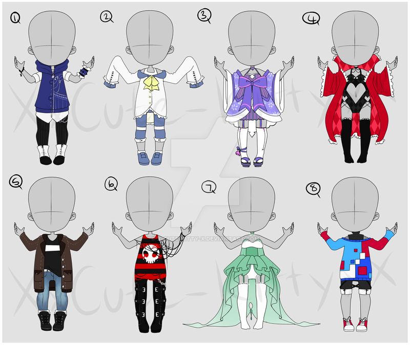 Clothing Adopts  - 260points - CLOSED by XxCuteKittyAdoptsxX