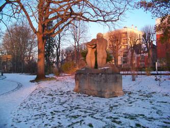 neige au parc pasteur 1