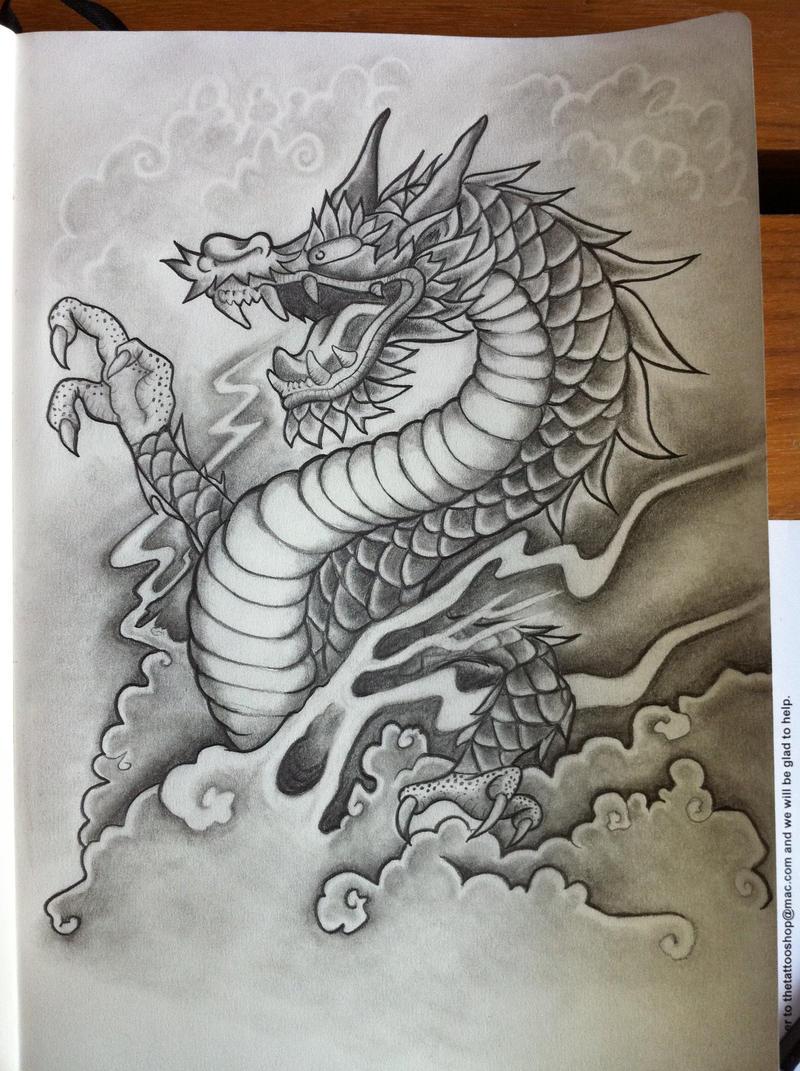 dragon tattoo concept by evilrj on deviantart. Black Bedroom Furniture Sets. Home Design Ideas