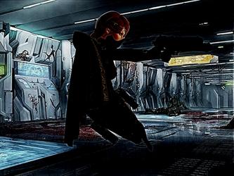 Corridor Gunfight by Lanina-Glass