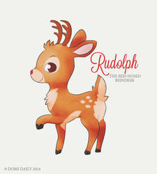 Rudolph The Red-Nosed Reindeer by DomiDaily