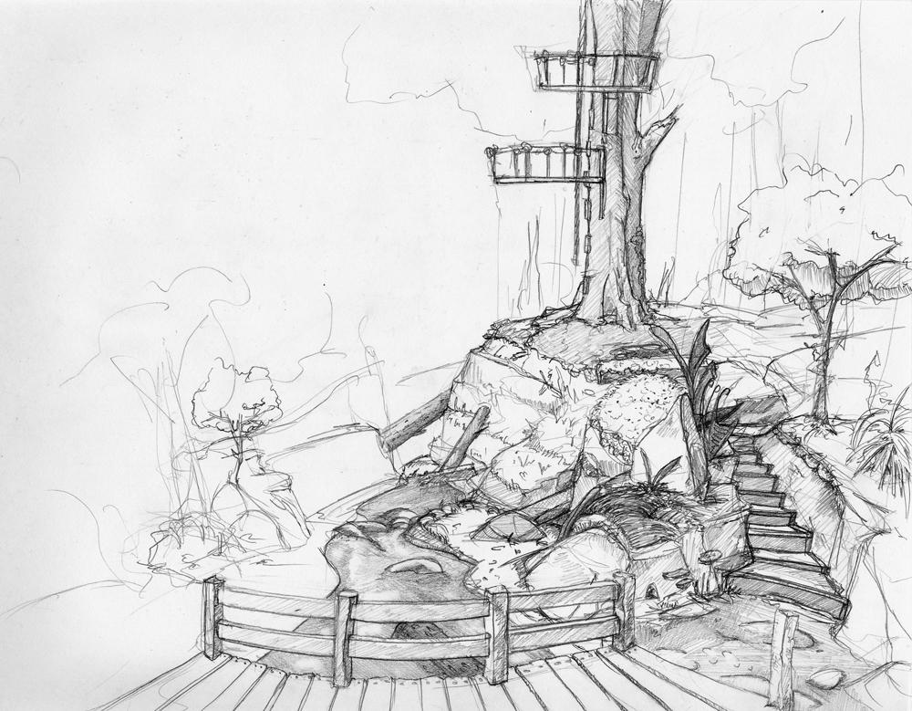 Treehouse Sketch By Synestheticstudios On DeviantArt