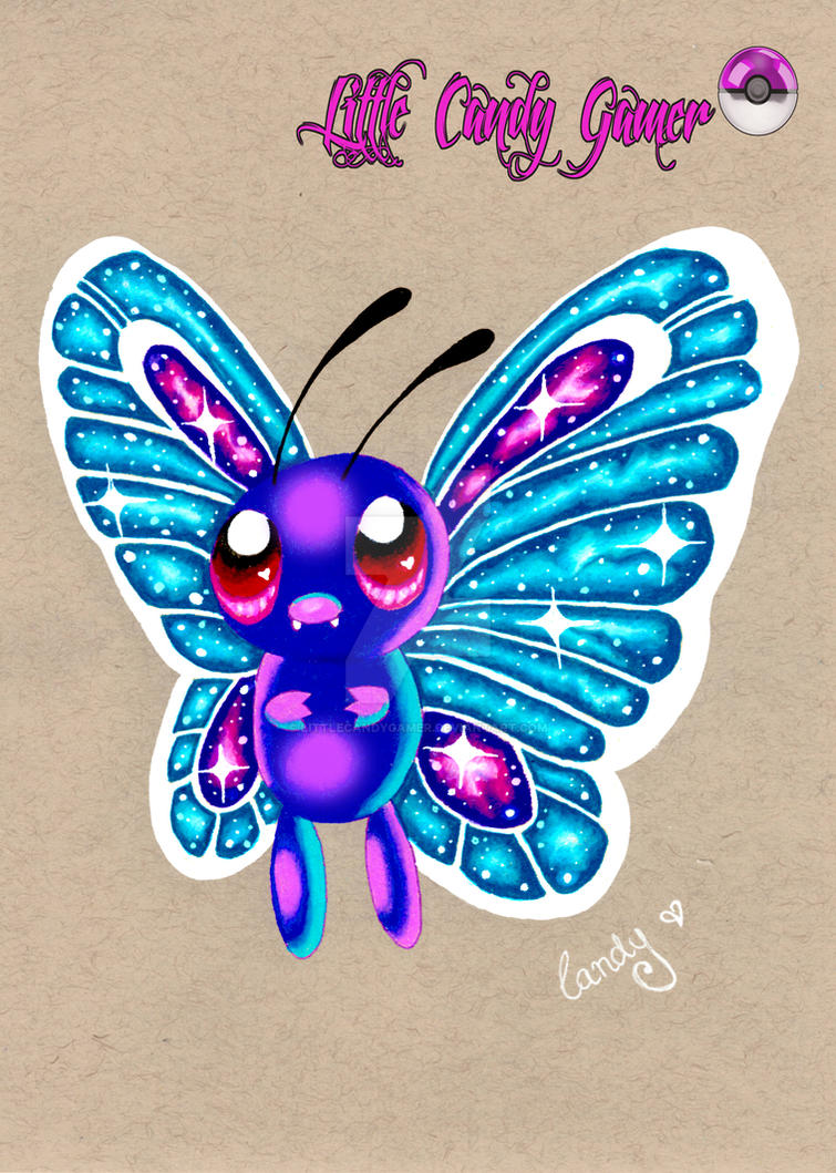 Cosmic Butterfree Prismacolor Drawing By Littlecandygamer On Deviantart