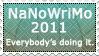 NaNoWriMo 2011 Stamp by CaseyJewels