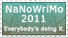 NaNoWriMo 2011 Stamp by CaseyJewels