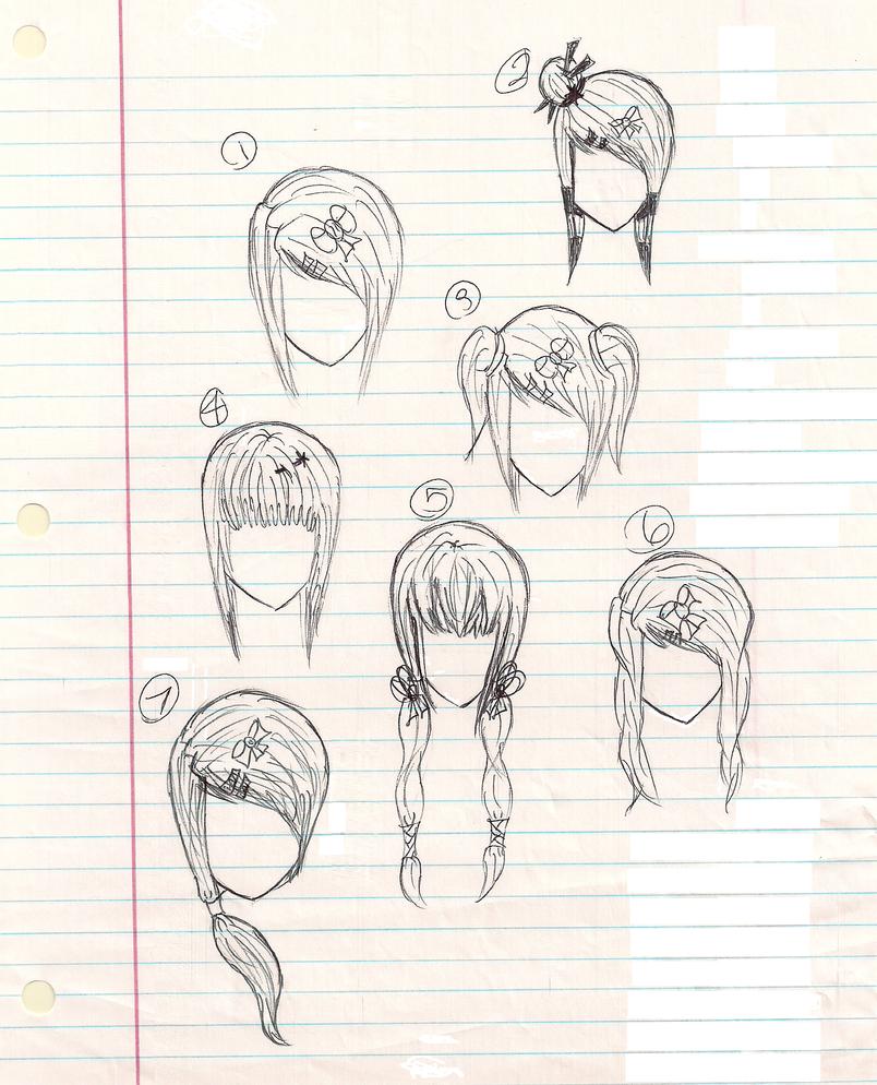 Anime hairstyles by plmethvin