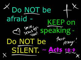 Acts 18:9 - WALLPAPER by plmethvin