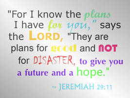 Jeremiah 29:11 - WALLPAPER by plmethvin