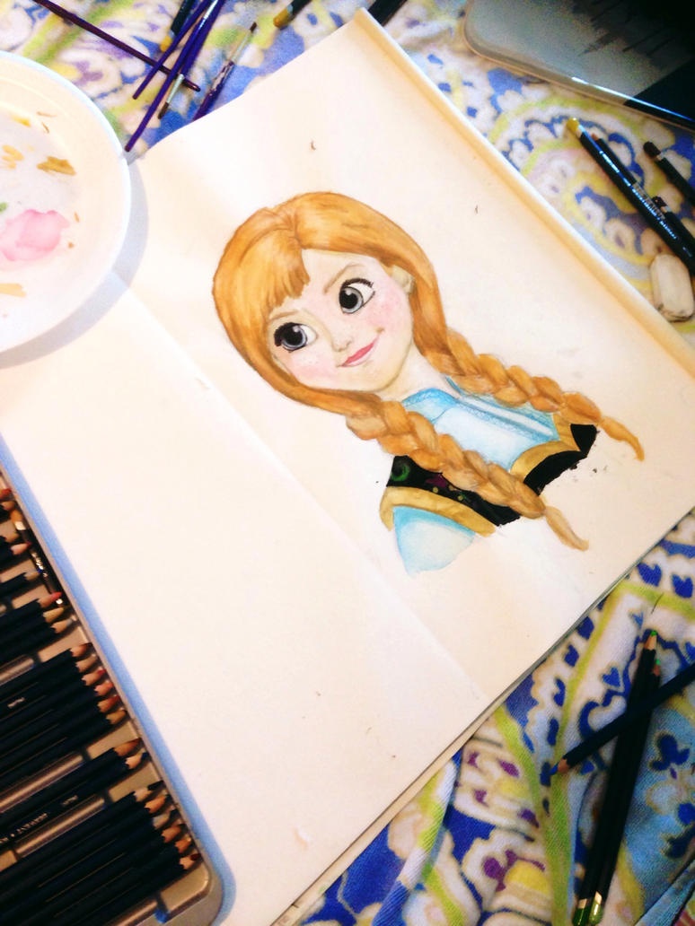 Watercolor Anna by plmethvin