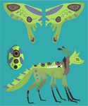 my new moth monster (not for sale) by draggon-rider2