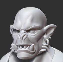 Orc Forgemaster face closeup