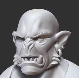 Orc Forgemaster face closeup