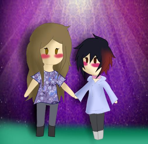 Tiny Nat and me by shotabunnyfairy