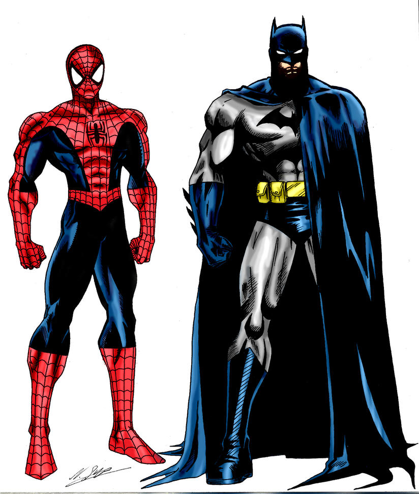 Spiderman Drawing Color Spiderman And Batman Colored