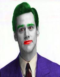 Jim Carrey as Joker by SteveIrwinFan96