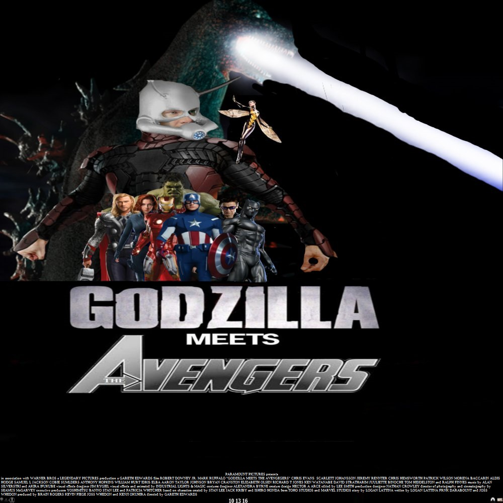 Godzilla meets The Avengers by SteveIrwinFan96