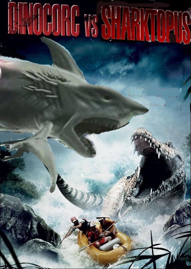 Dinocroc vs. Sharktopus by SteveIrwinFan96 on DeviantArt