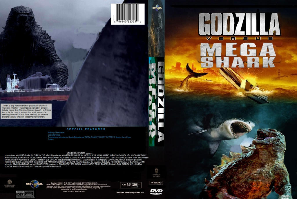 Godzilla vs. Mega Shark dvd cover by SteveIrwinFan96 on ...