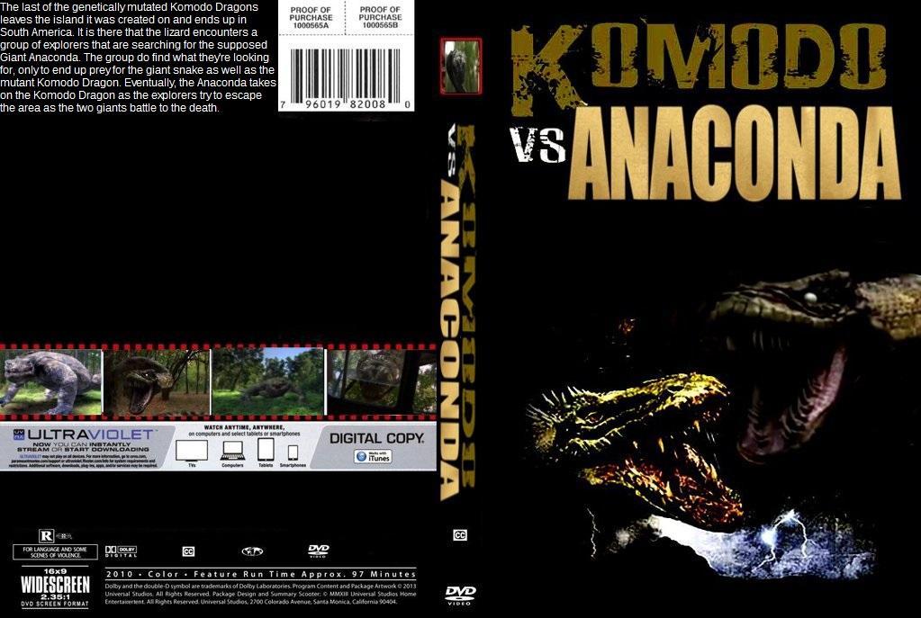 Komodo vs. Anaconda DVD cover by SteveIrwinFan96 on DeviantArt