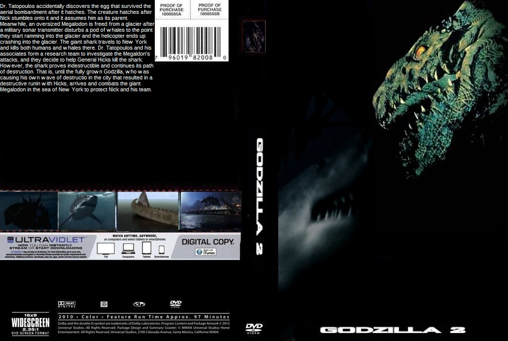 Godzilla 2 DVD Cover By SteveIrwinFan96 On DeviantArt