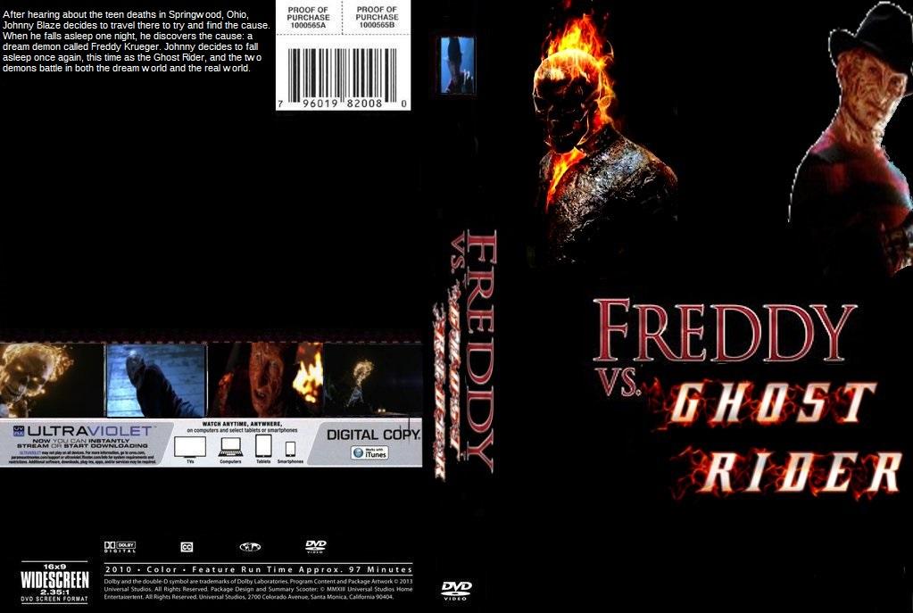 Freddy vs  Ghost Rider DVD cover by SteveIrwinFan96 on DeviantArt