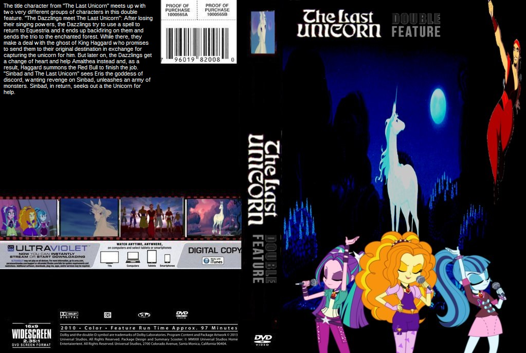 The Last Unicorn Double Feature DVD Cover By SteveIrwinFan96 ...