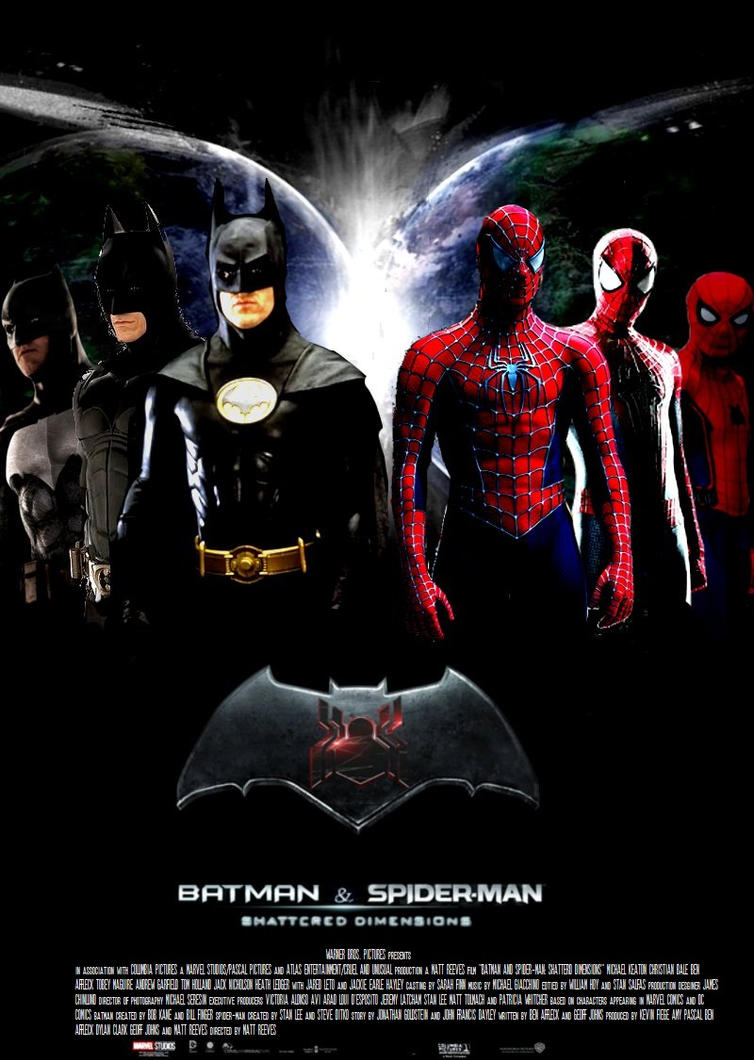 batman and spiderman shattered dimensions poster by