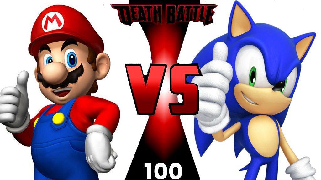 Death Battle Episode 100 Mario Vs Sonic Thumbnail By Steveirwinfan96 On Deviantart